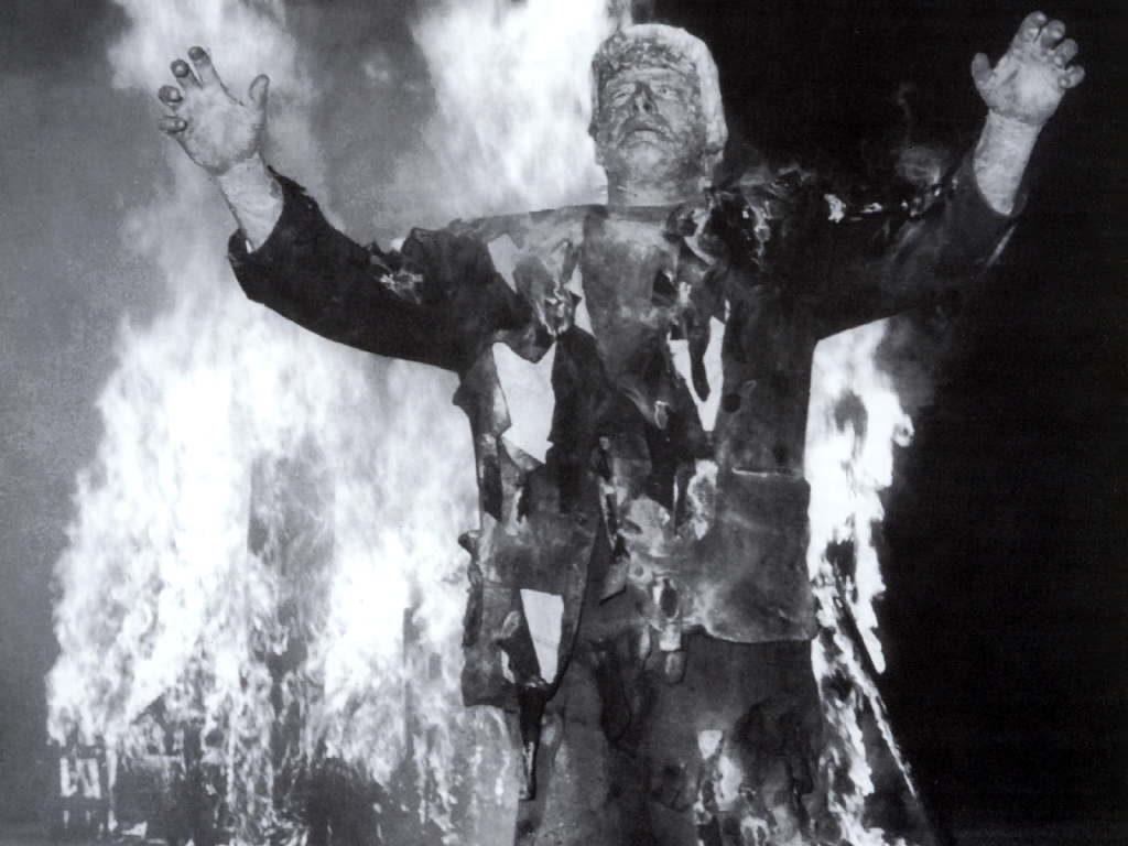 Boris Karloff in The Bride of Frankenstein.