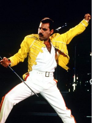 Freddie Mercury dashing in yellow