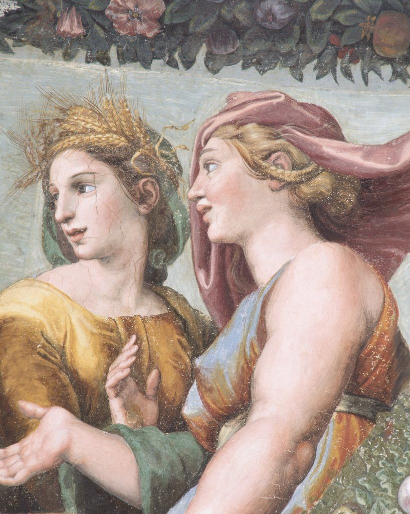 Ceres and Juno from the workshop of Raphael
