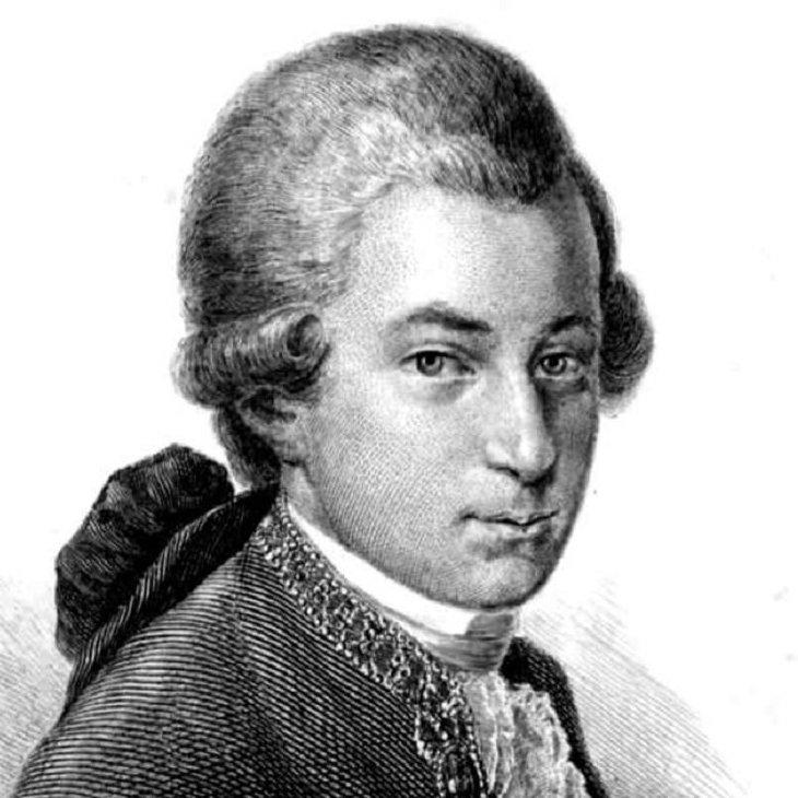 Mozart etching