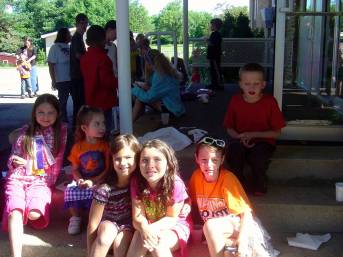 VBS kids on porch 2