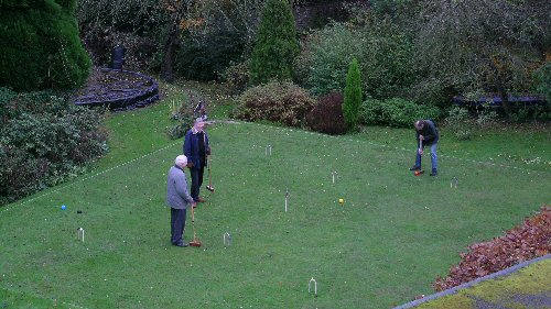 Lawn Care and Construction  Levelling a Croquet Lawn by Hand