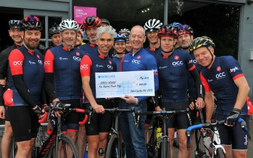 OCC is affiliated to Sobell House Hospice and a proportion of our club funds raised by membership fees and kit sales goes towards this venerable Oxford charity. This was our first donation, in 2017, that even garnered a mention in the Oxford Times, no less!
