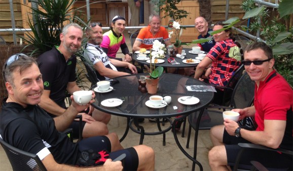 Social ride stop at Bamford