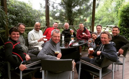 Beers after a day in the Welsh hills