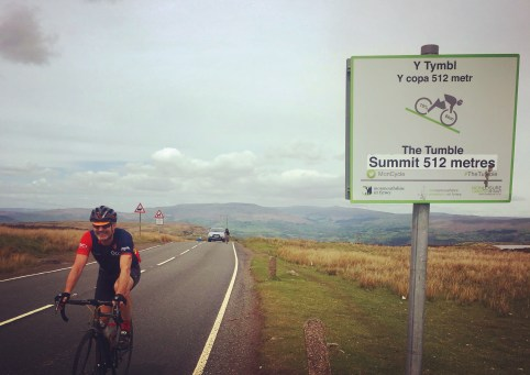 Mark Osborne crests the Tumble in South Wales