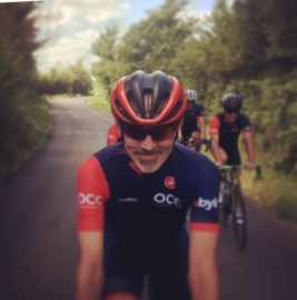 James Piggot, loving his Saturday club ride!