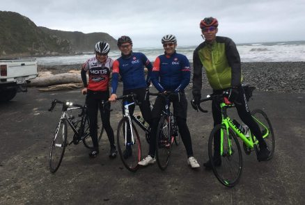 Mike Lowndes (left) headed to New Zealand in July 2018 and linked up with former club mate and resident Kiwi, Hans van der Voorn (and friends), for a windly and lumpy ride around Wellington.