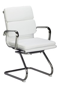 Classic cushion Visitors Chair - White - Oxford Office ...