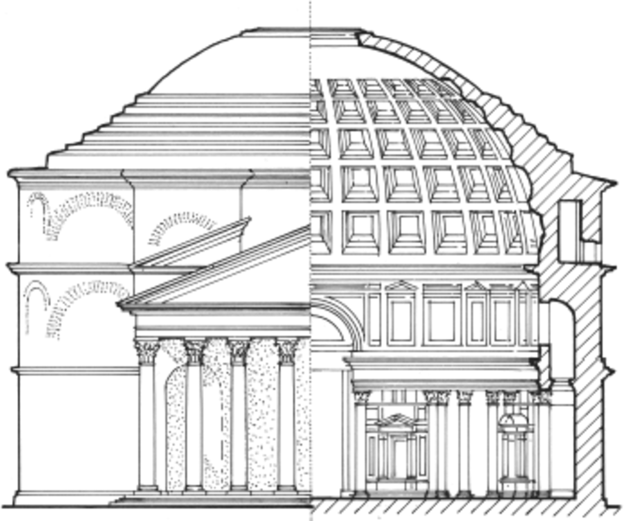 The Roman Pantheon Coloring Coloring Pages