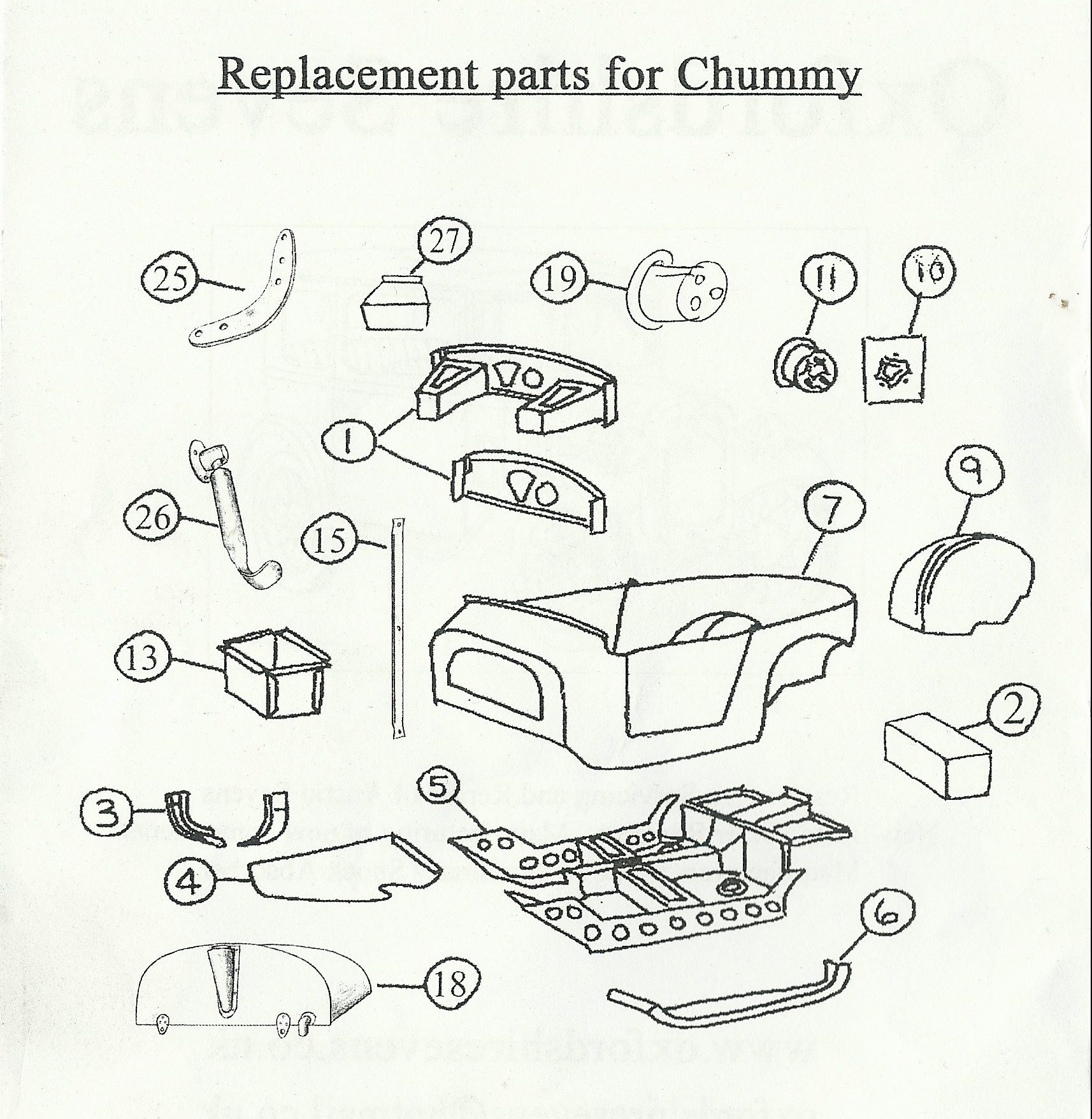 Austin Chummy Body Parts And Panels