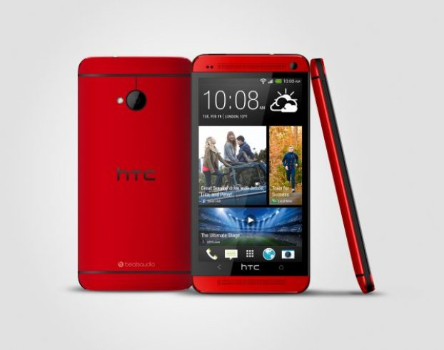 HTC One Red three view (1)