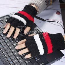 fingerless usb heated gloves