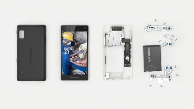 Fairphone 2 disassembled