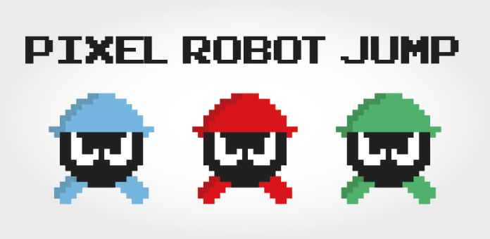 Pixel Robot Jump logo, supplied by Universal Games and used with permission.