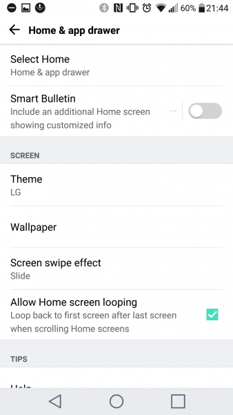 How to: Enable or Disable the SMART BULLETIN in the LG G5