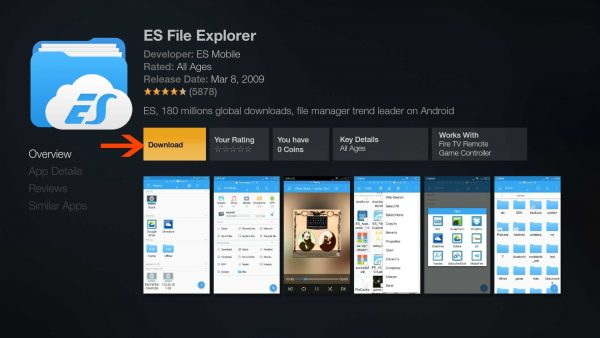 es explorer file manager