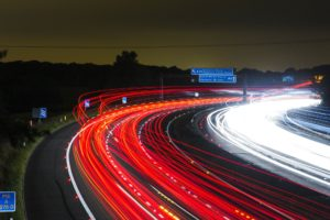 motorway road britain night driverless