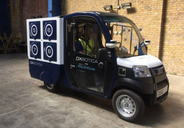 ocado oxbotica driverless vehicle shopping