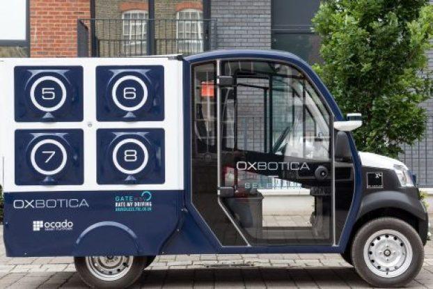 ocado oxbotica driverless vehicle shopping