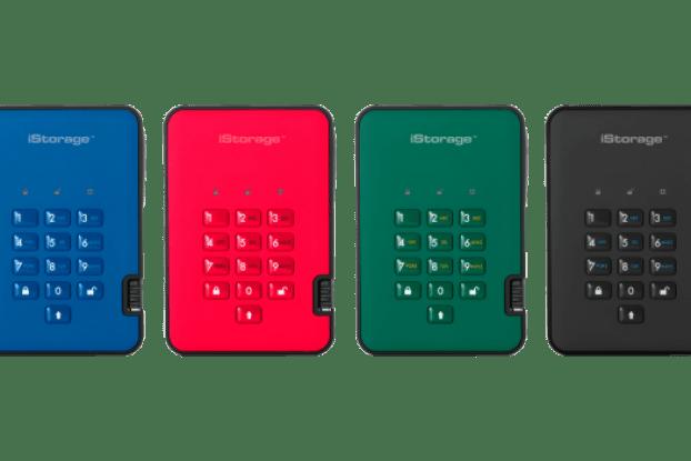 istorage hard drive colours