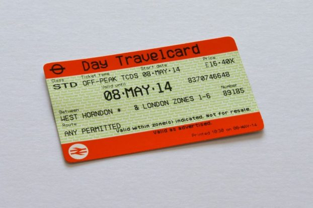 A rail ticket, which the budget gives under 30's a discount on.