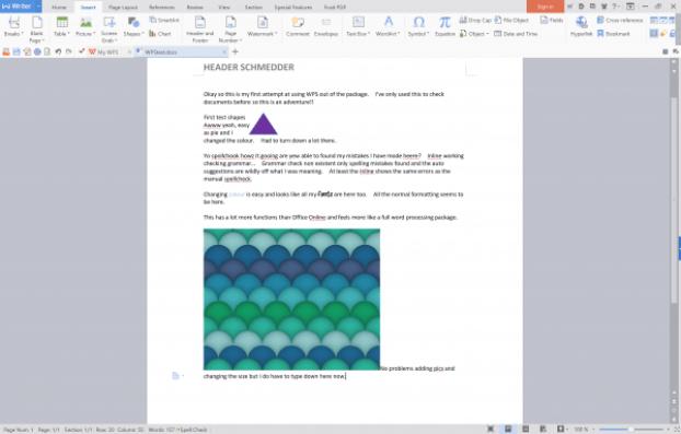 WPS desktop screenshot free freeware word alternative word processor