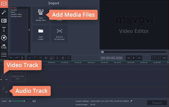 4 Steps for users to add audio to video through Movavi video