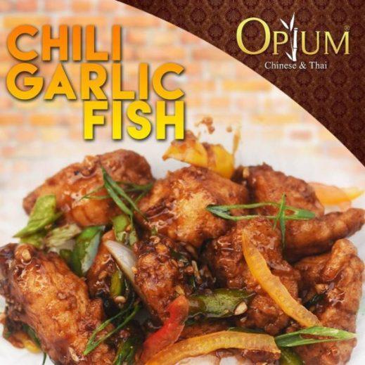 Chili garlic fish opium thai