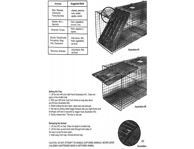 OxGord Humane Large Animal Trap Steel Cage for Live Rodent