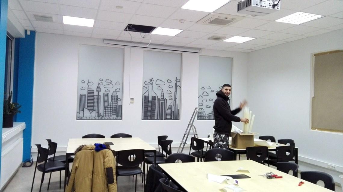 VUVM auditorijos dekoravimas