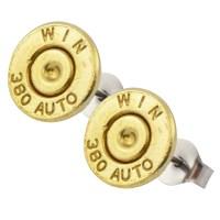 Little Black Gun 380 Auto Bullet Stud Earrings, Thin | eBay