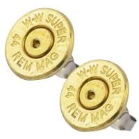 Little Black Gun 44 Mag Bullet Stud Earrings, Thin | eBay
