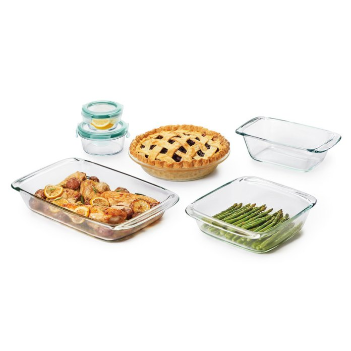 OXO Good Grips 8 Piece Glass Bake Serve & Store Set.