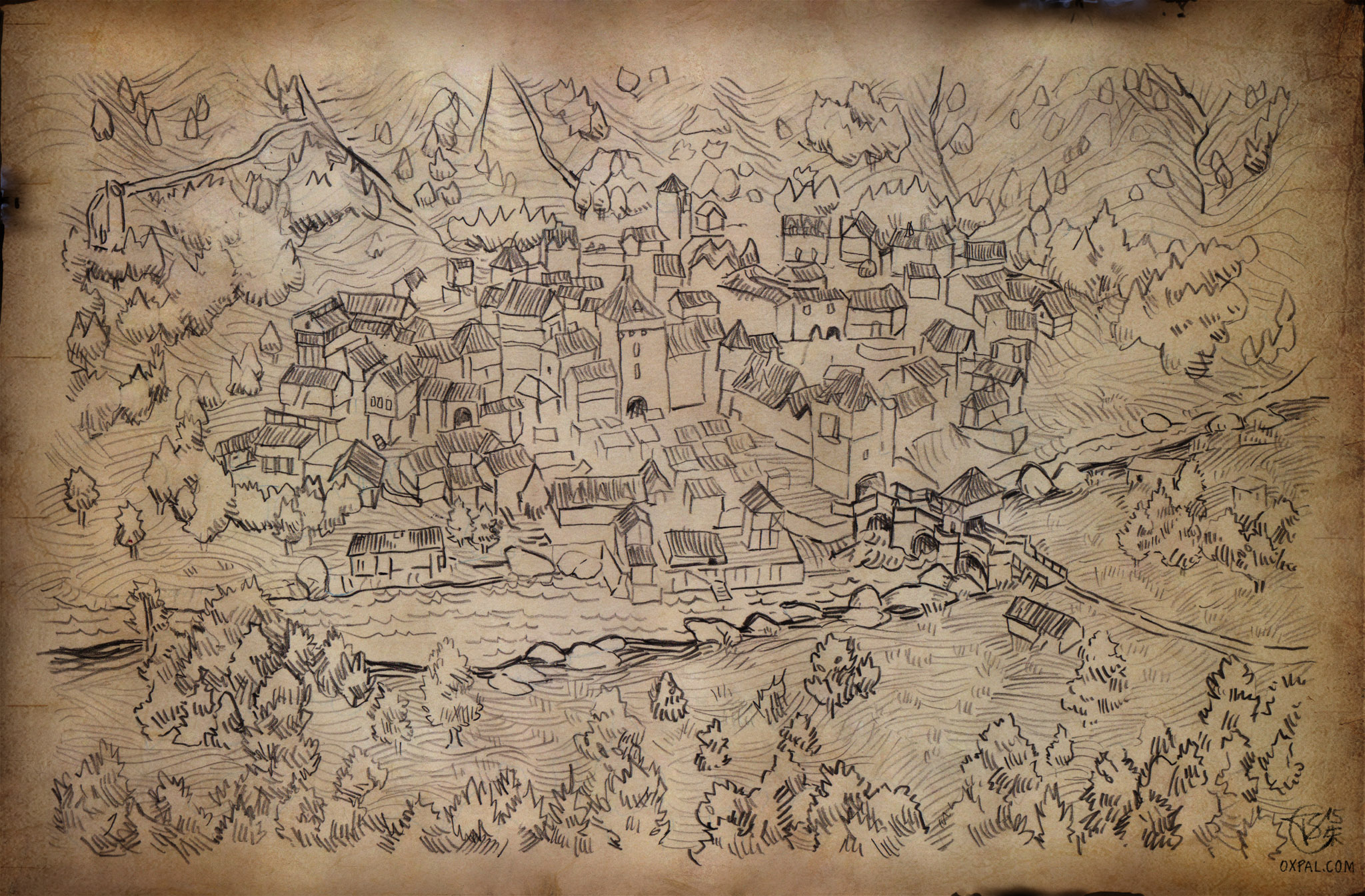 Hand Drawn Me Val Town Map Thomas Schmall