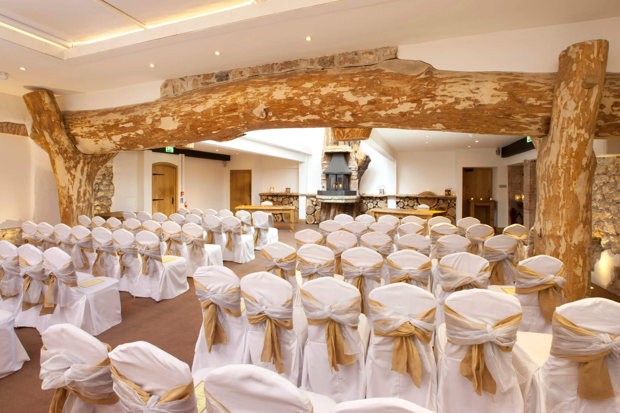 white wedding chair covers uk wrought iron outdoor chairs ceremony - oxwich bay hotel