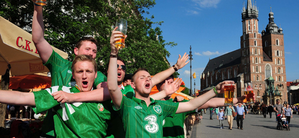 Irish-fans-enjoy-the-atmosphere-as-they-wait-for-the-UEFA-European-Championships-to-start-in-Krakow-Poland.-Pic-by-Owen-Humphreys-PA