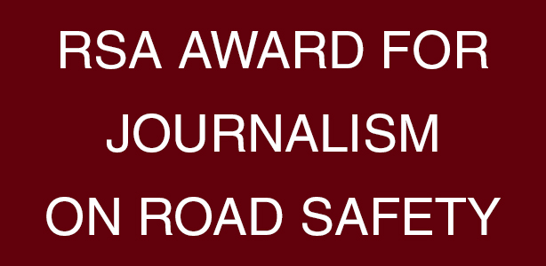 RSA Award For Journalism On Road Safety