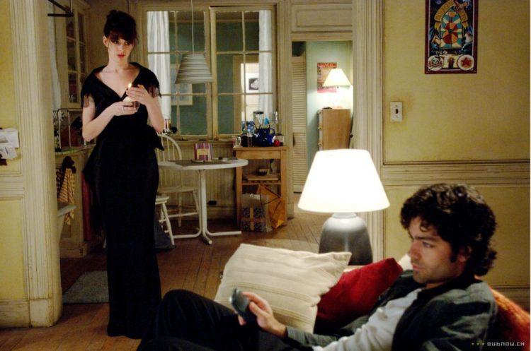 Andy's boyfriend in The Devil Wears Prada, sulking.