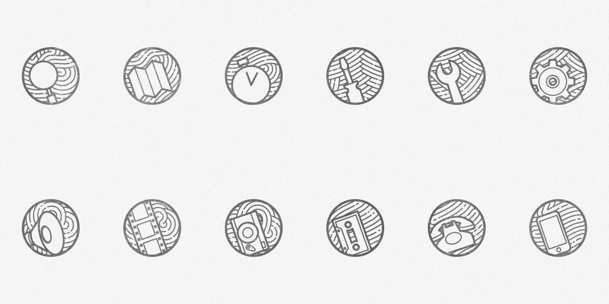 Zen icons vol 2: A New Free Set of 12 minimal outline