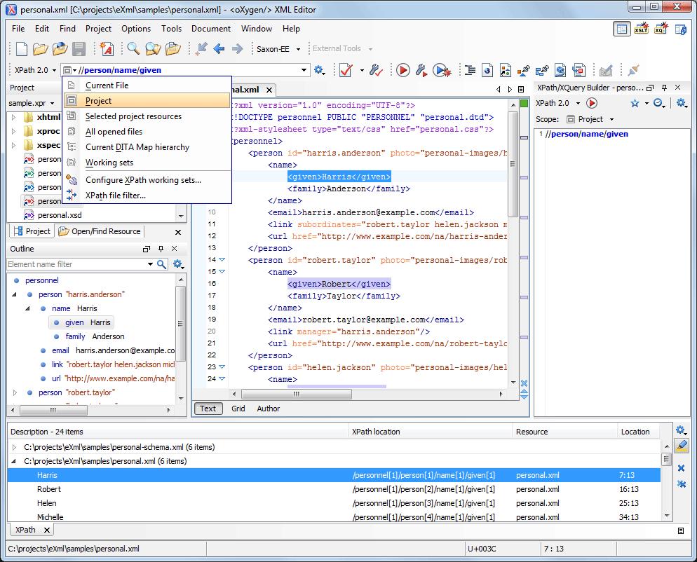 Oxygen XML Editor 160