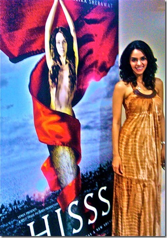 Mallika Sherawat on Hisss Promo Photo