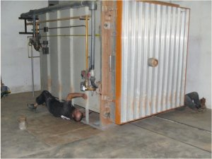 fermeture du four à gaz