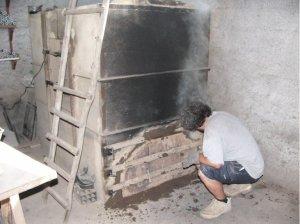 fermeture du four à bois