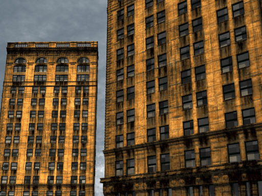 Free 3D models  New York building POVRay