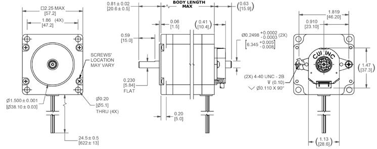 NEMA 23 Stepper Motor Applications and Dimensions