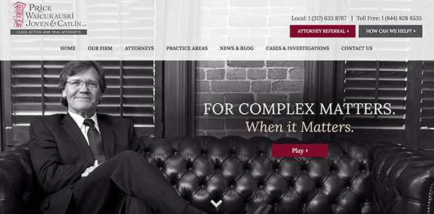 price law firm website design