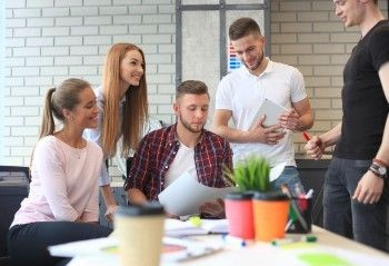 a digital marketing agency team works on a law firm website