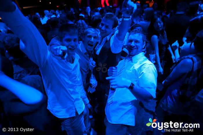 Soon-to-be married men partying it up at Tryst at the Wynn.