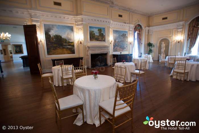 Many receptions take place in the hotel's ornate dining room.